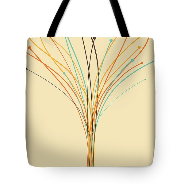 Graphic Tree Tote Bag by Setsiri Silapasuwanchai