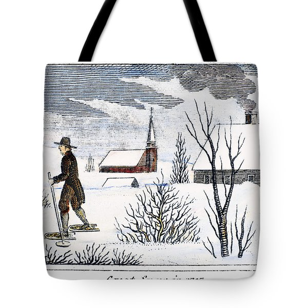 Great Snow Of 1717 Tote Bag by Granger