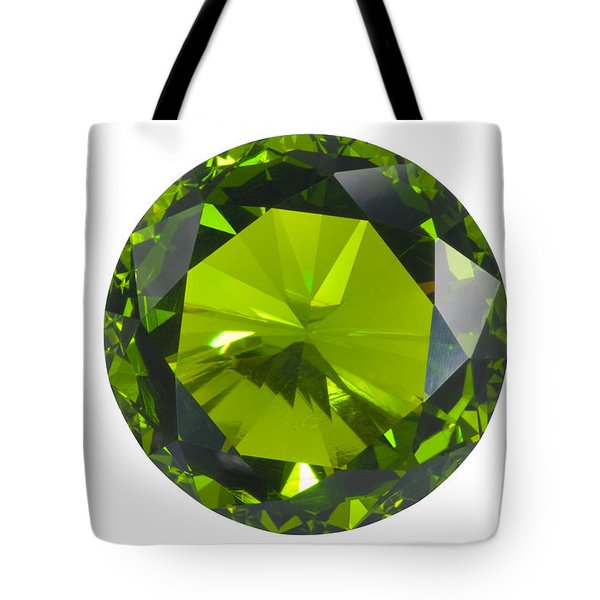 green gem isolated Tote Bag by ATIKETTA SANGASAENG