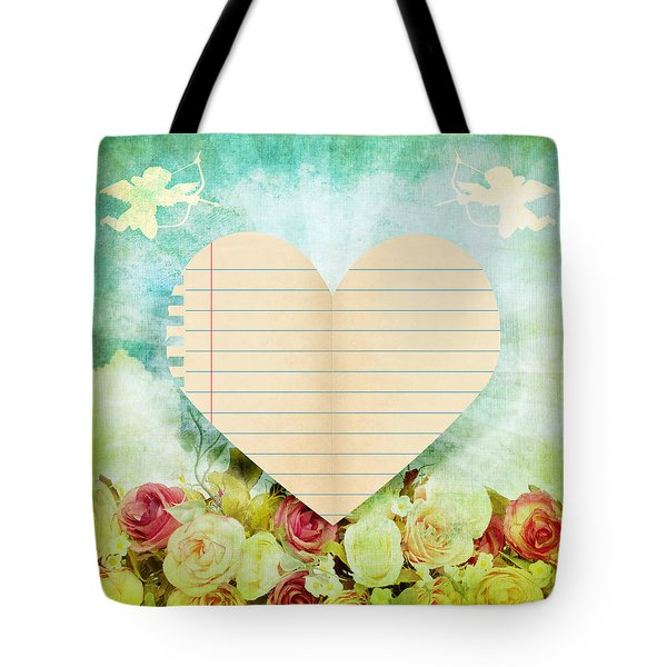greeting card Valentine day Tote Bag by Setsiri Silapasuwanchai