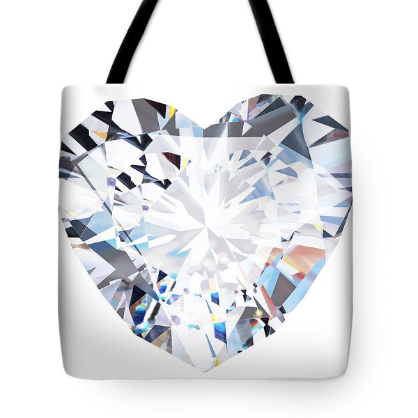 Heart Diamond  Tote Bag by Setsiri Silapasuwanchai
