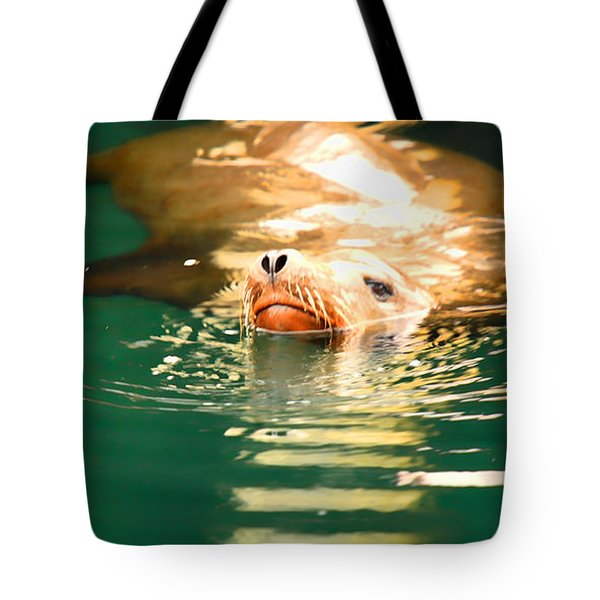 Hello Tote Bag by Cheryl Young