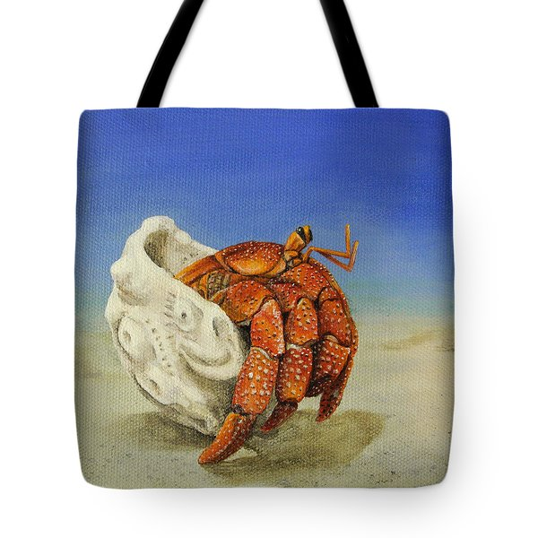 Hermit Crab Tote Bag by Cindy D Chinn