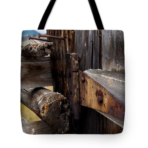 Hinged 3 Tote Bag by Fran Riley