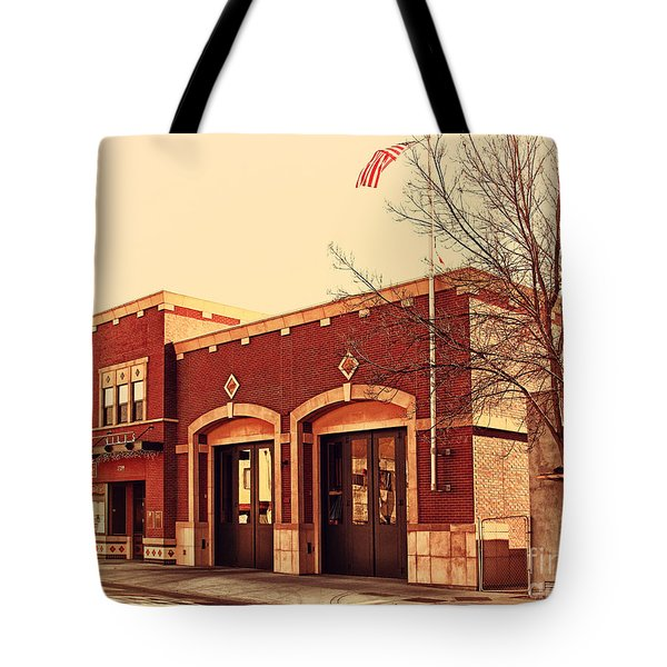 Historic Niles District In California Near Fremont . Niles Fire Station Number 2 . 7d10732 Tote Bag by Wingsdomain Art and Photography
