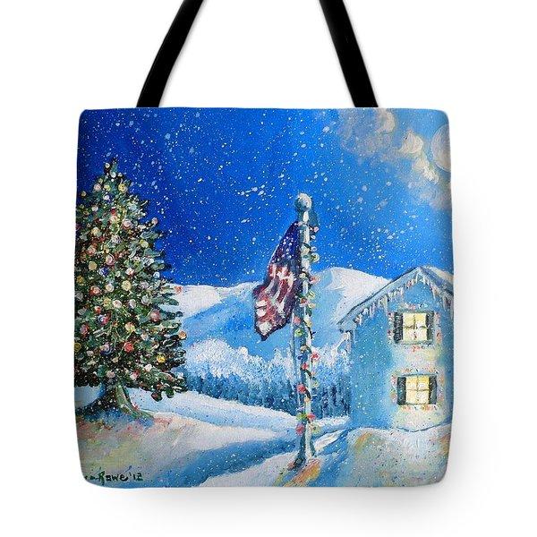 Home For The Holidays Tote Bag by Shana Rowe Jackson