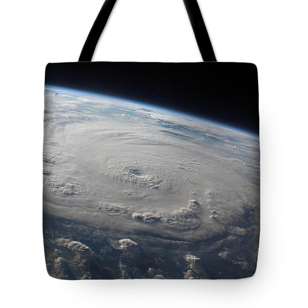Hurricane Felix Over The Caribbean Sea Tote Bag by Stocktrek Images