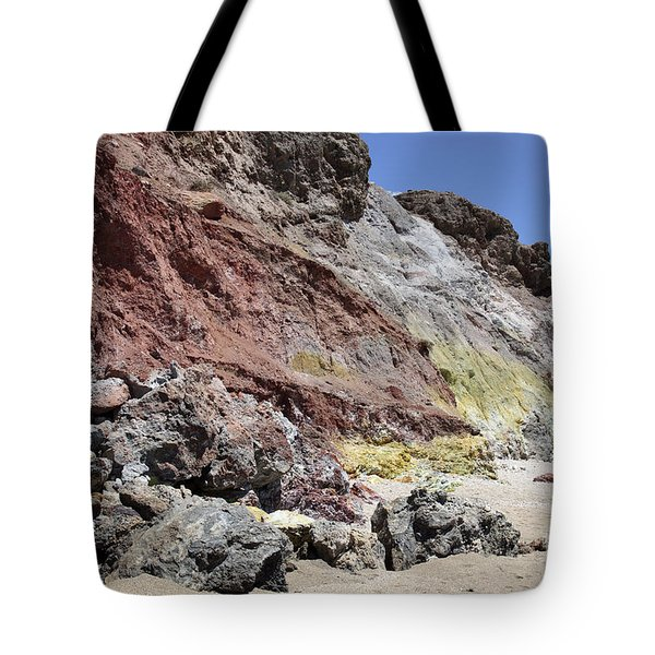 Hydrothermally Altered Red And Yellow Tote Bag by Richard Roscoe