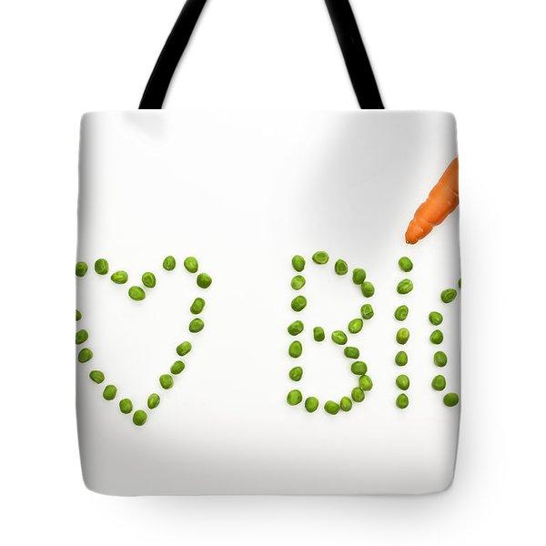 I Love Bio Tote Bag by Joana Kruse
