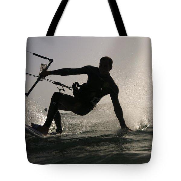 Kitesurfing Board Tote Bag by Hagai Nativ