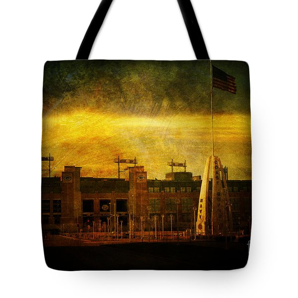 Lambeau Field Tote Bag by Joel Witmeyer