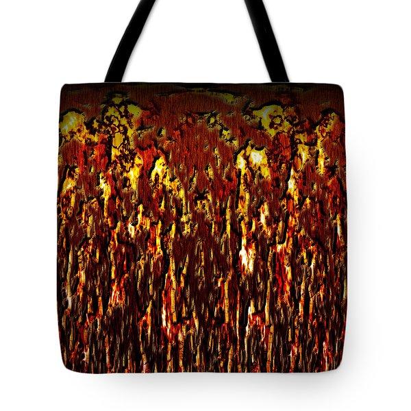 Lava And Brimstone Tote Bag by Christopher Gaston
