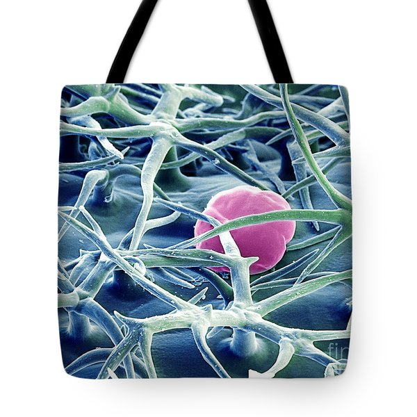 Lavender Leaf Tote Bag by Ted Kinsman