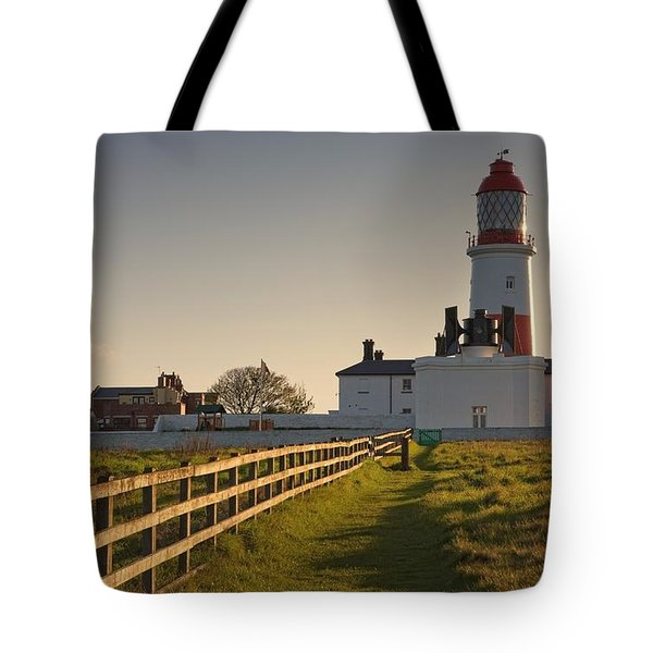Lighthouse South Shields, Tyne And Tote Bag by John Short