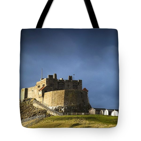 Lindisfarne Castle On A Volcanic Mound Tote Bag by John Short