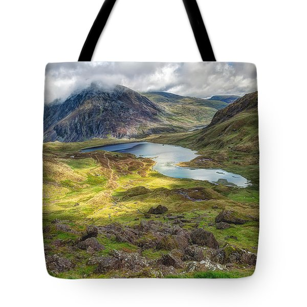 Llyn Idwal Lake Tote Bag by Adrian Evans