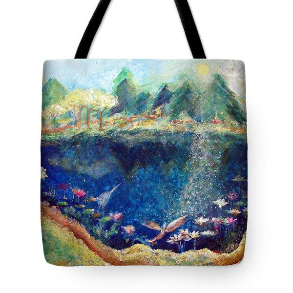 Lotus Lake Tote Bag by Ashleigh Dyan Bayer