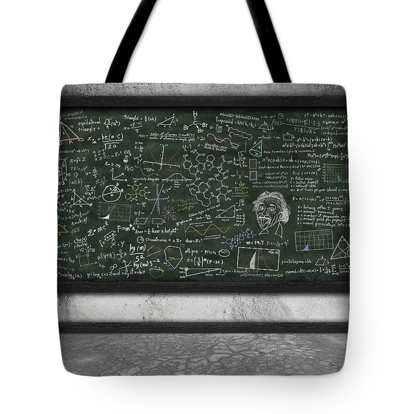 maths formula on chalkboard Tote Bag by Setsiri Silapasuwanchai
