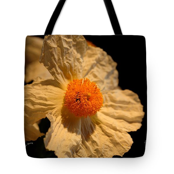 Matilija Poppy Tote Bag by Cheryl Young