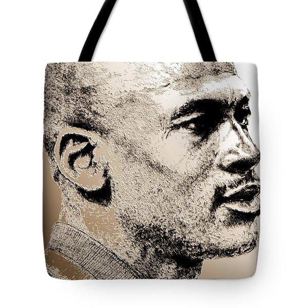Michael Jordan In 1990 Tote Bag by J McCombie