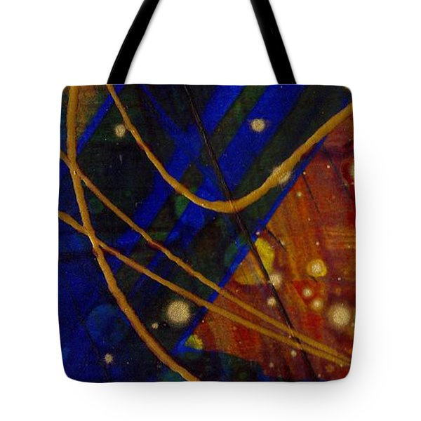 Mickey's Triptych - Cosmos I Tote Bag by Angela L Walker