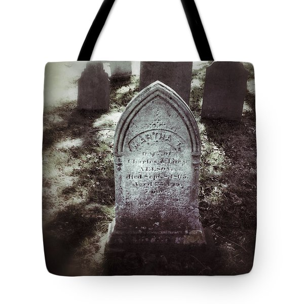 Misty Graveyard Tote Bag by Jill Battaglia