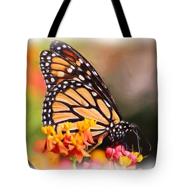 Monarch And Milkweed Tote Bag by Heidi Smith