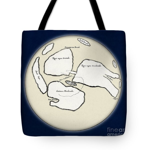 Moon Map By William Gilbert, 1603 Tote Bag by Science Source