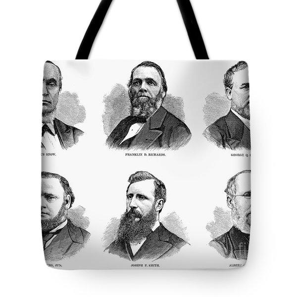 Mormon Apostles, 1877 Tote Bag by Granger