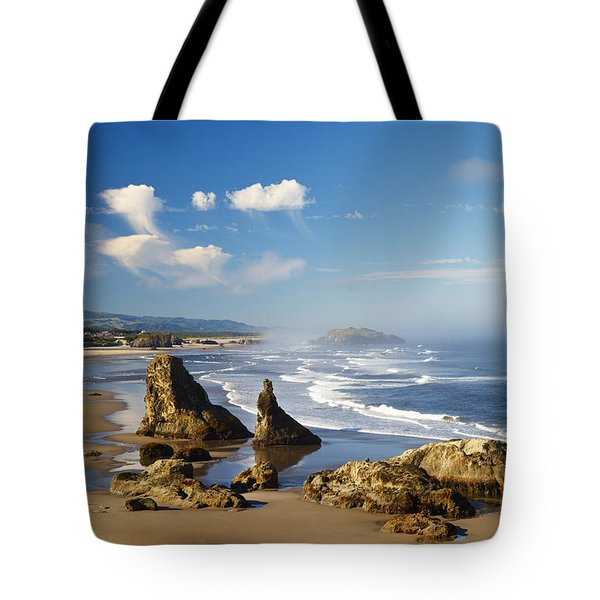 Morning Light Adds Beauty To Rock Tote Bag by Craig Tuttle