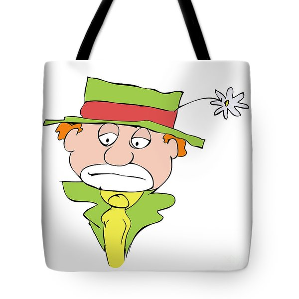 Mournful Clown Tote Bag by Michal Boubin