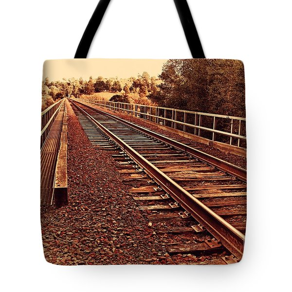 Muir Railroad Trestle In Martinez California . 7d10218 Tote Bag by Wingsdomain Art and Photography