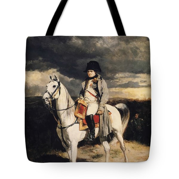 Napoleon Bonaparte On Horseback Tote Bag by War Is Hell Store