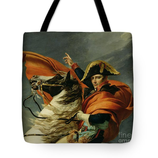 Napoleon Crossing The Alps On 20th May 1800 Tote Bag by Jacques Louis David