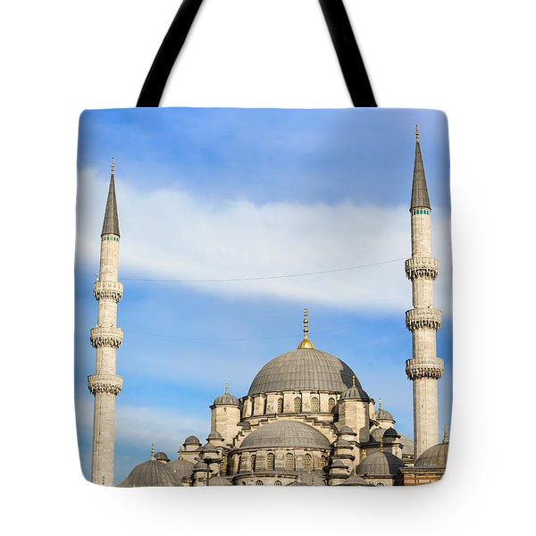 New Mosque In Istanbul Tote Bag by Artur Bogacki