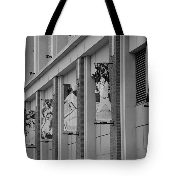 New York Mets Of Old In Black And White Tote Bag by Rob Hans