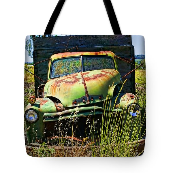 Old Green Truck Tote Bag by Garry Gay