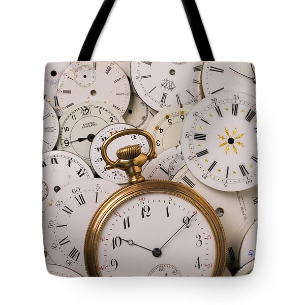 Old pocket watch on dail faces Tote Bag by Garry Gay