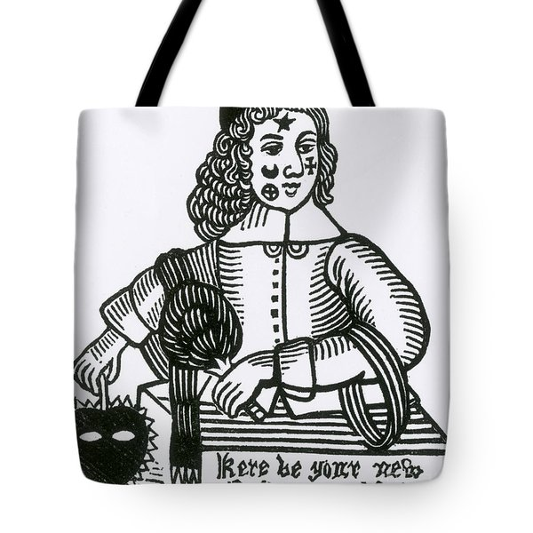 Ornamental Patches On Face, 17th Century Tote Bag by Photo Researchers