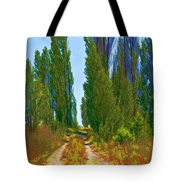 Paradise Road Tote Bag by Randall Nyhof
