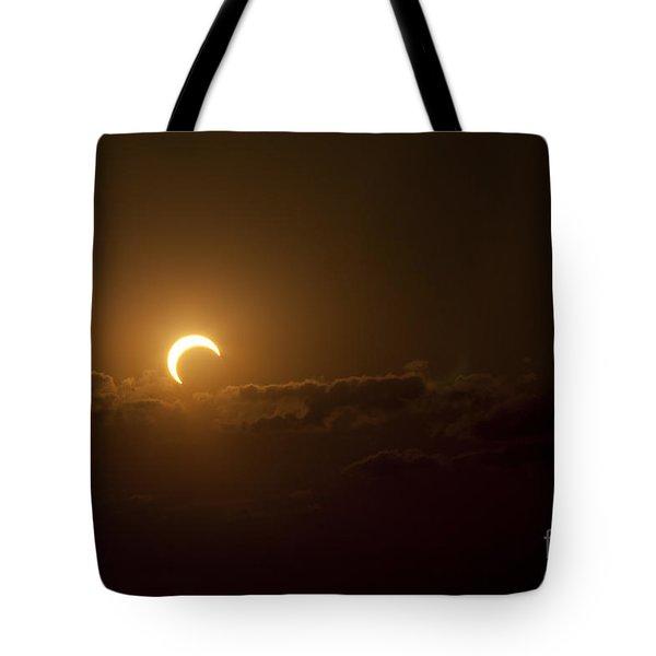 Partial Solar Eclipse Tote Bag by Phillip Jones