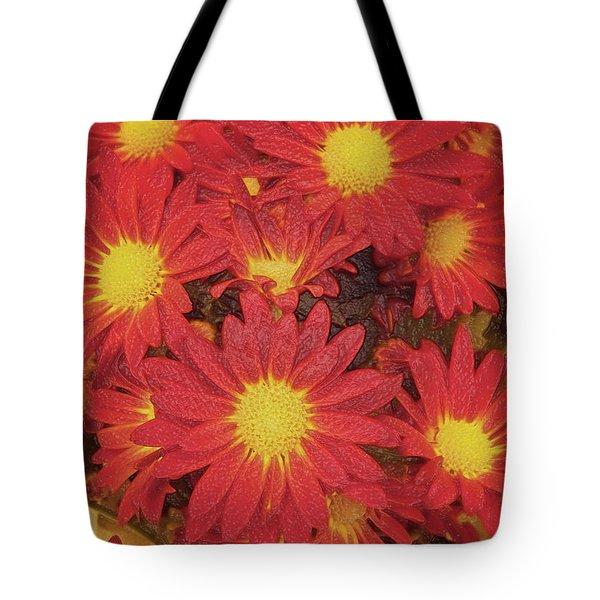 Patterned Petels Tote Bag by Debbie Portwood