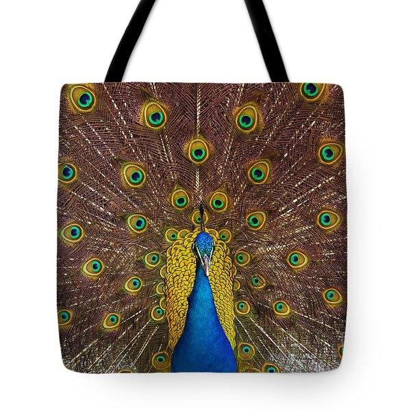 Peacock Tote Bag by Carlos Caetano