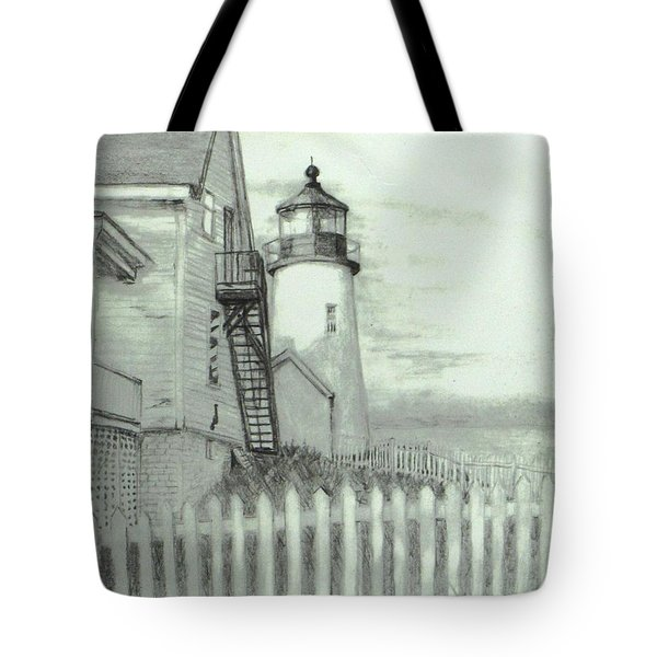 Pemaquid lighthouse  Tote Bag by Jack Skinner