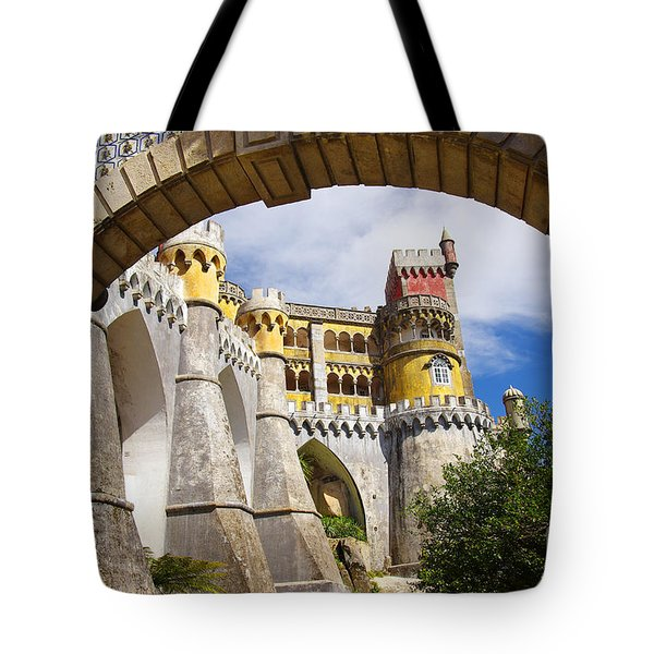 Pena Palace Tote Bag by Carlos Caetano