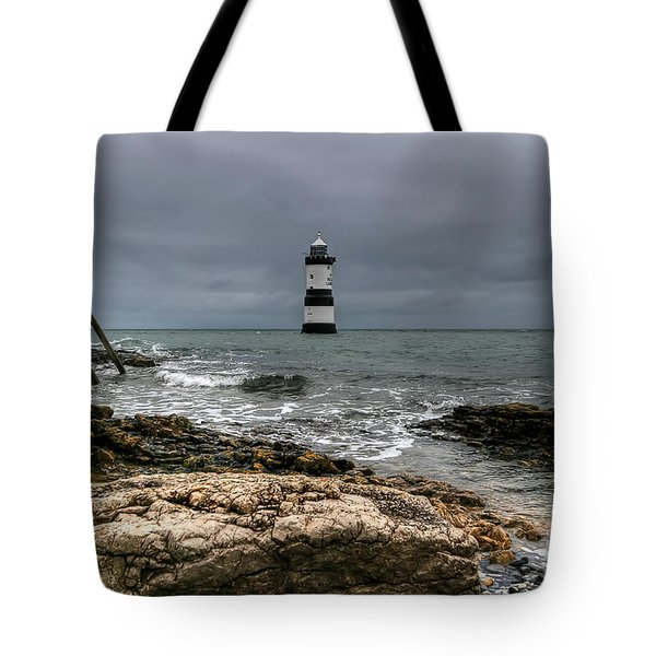Penmon Point Tote Bag by Adrian Evans