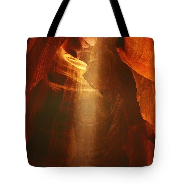 Pillars Of Light - Antelope Canyon Az Tote Bag by Christine Till