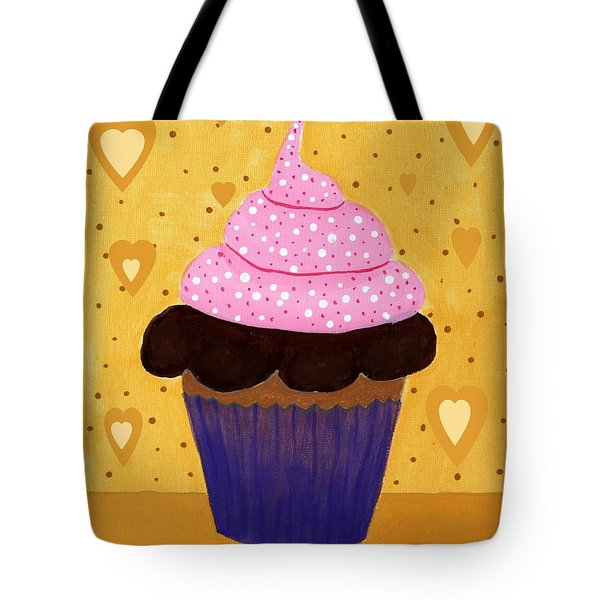 Pink Frosted Cupcake Tote Bag by Barbara Griffin