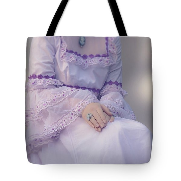 pink wedding dress Tote Bag by Joana Kruse