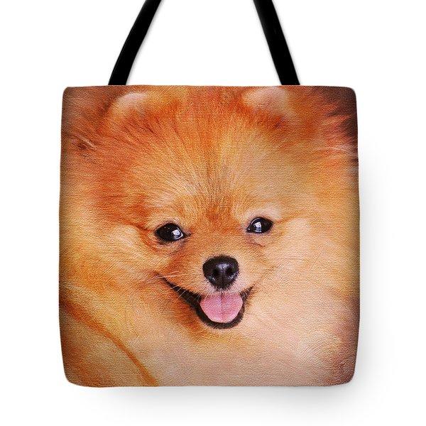 Pomeranian Portrait Tote Bag by Jai Johnson